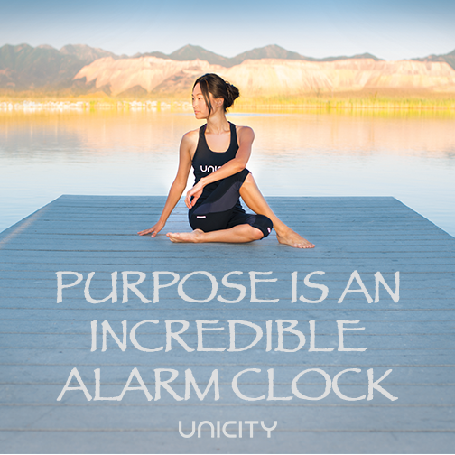 Purpose is an incredible alarm clock